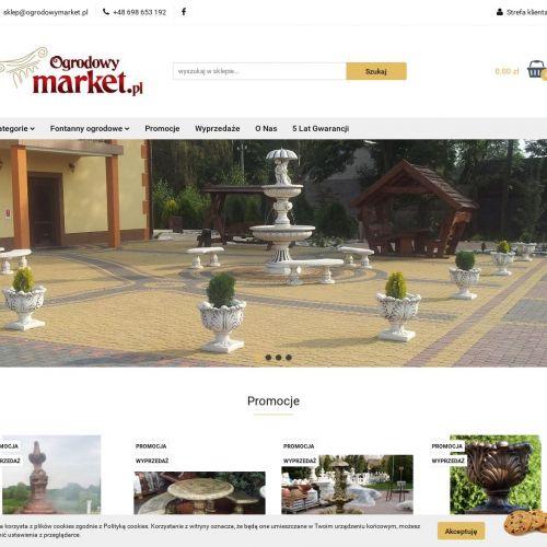 Betonowa fontanna ogrodowa