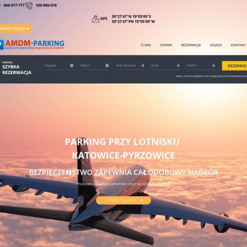 Parking przy lotnisku Katowice-Pyrzowice