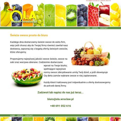 Dostawa świeżych owoców do firm