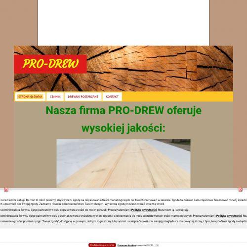 Strugane kantówki sosnowe i podbitki dachowe