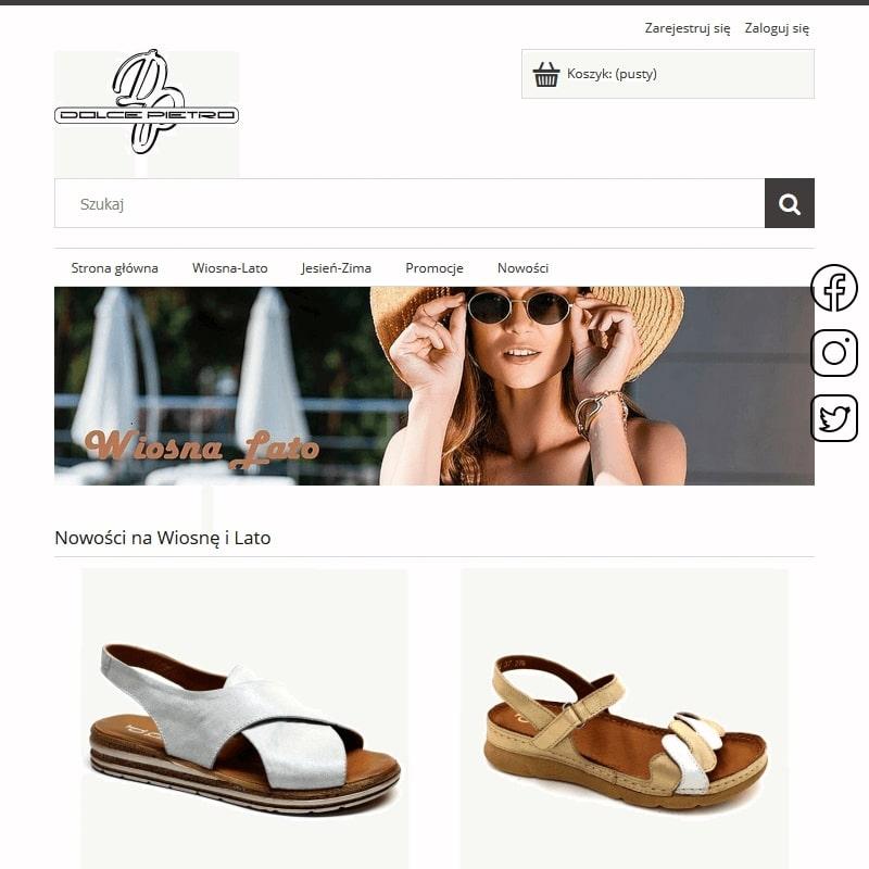 Damskie skórzane obuwie