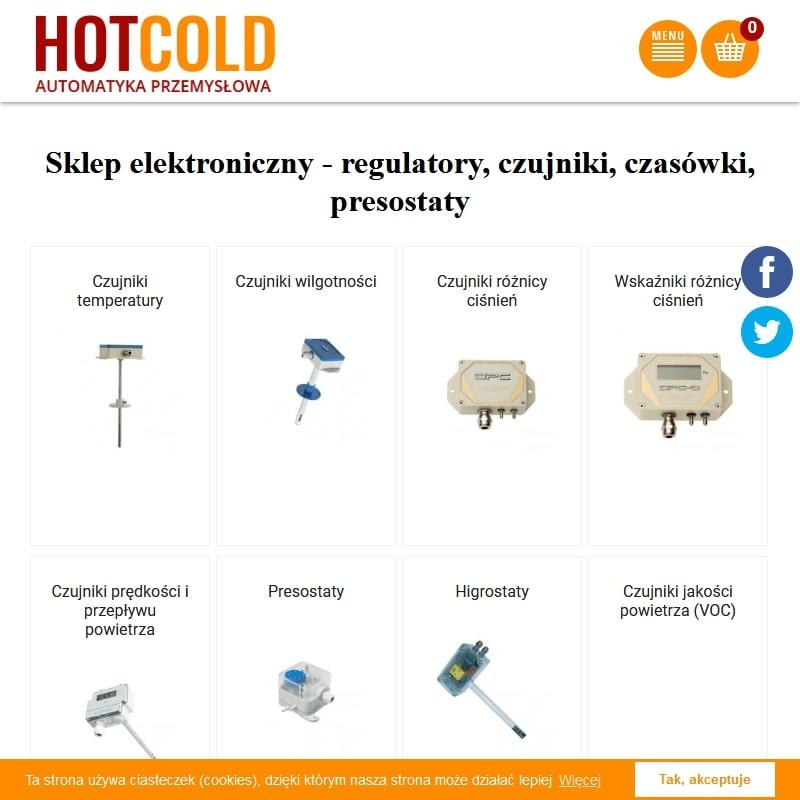 Rejestratory temperatury i wilgotności,