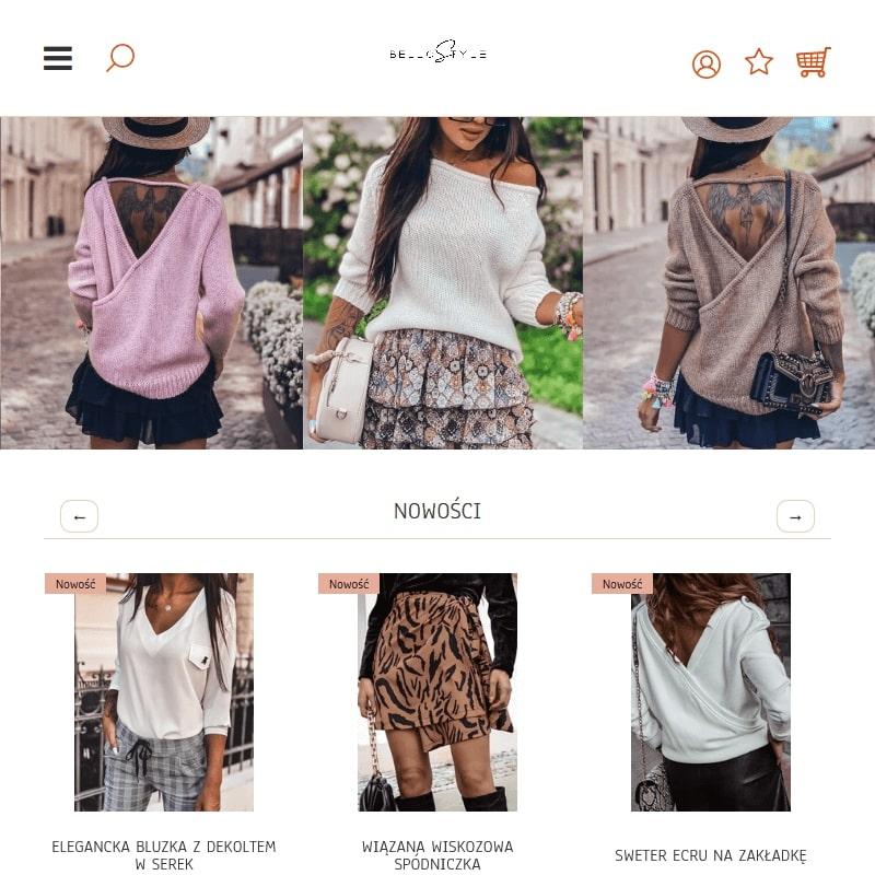 Ażurowe sweterki i spódnice w prążki