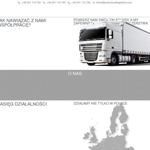 Transportu szalunków oraz koparek