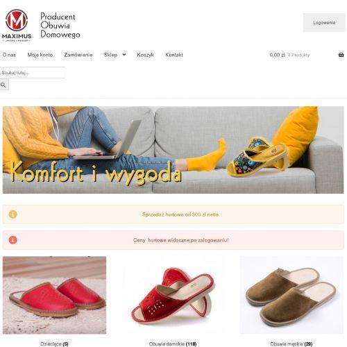 Męskie oraz dziecięce pantofle domowe