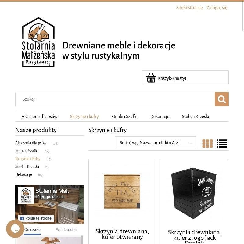 Drewniany kufer-skrzynia