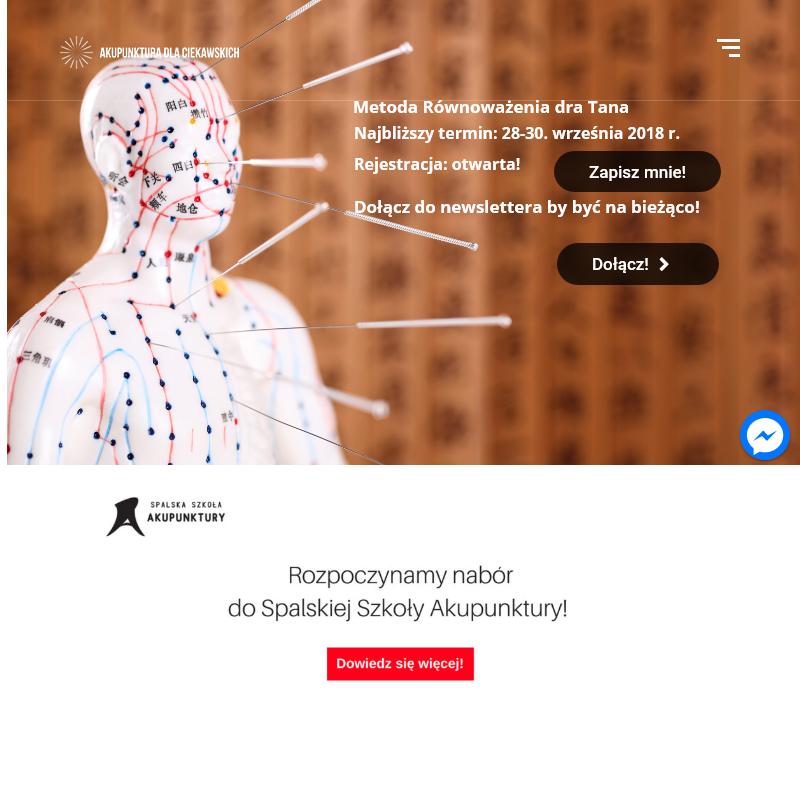 Kurs akupunktury dla fizjoterapeutów
