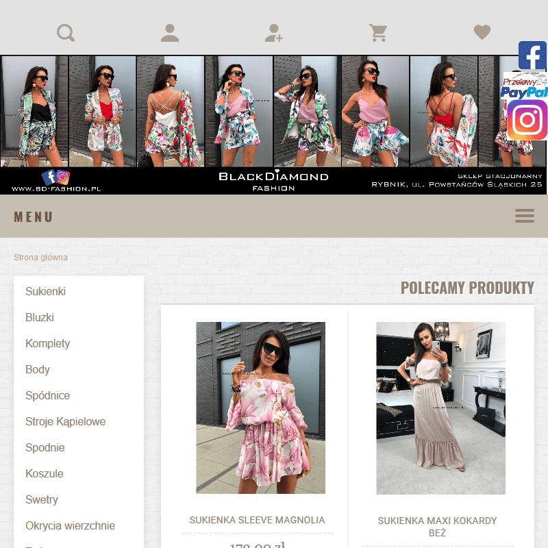 Modne ubrania - sklep internetowy