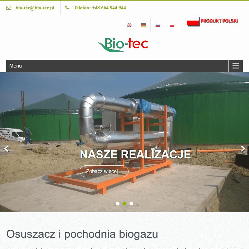Pochodnie biogazowe i urządzenia do obróbki