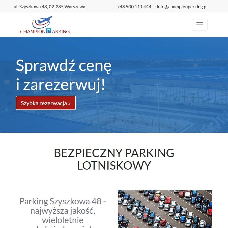Parking przy ulicy Szyszkowej w Warszawie