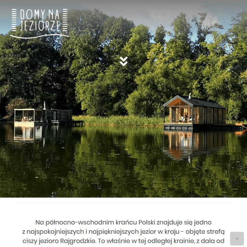 Domy letniskowe nad jeziorem