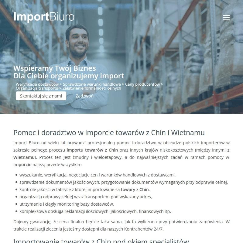 Doradztwo w imporcie towarów z Chin