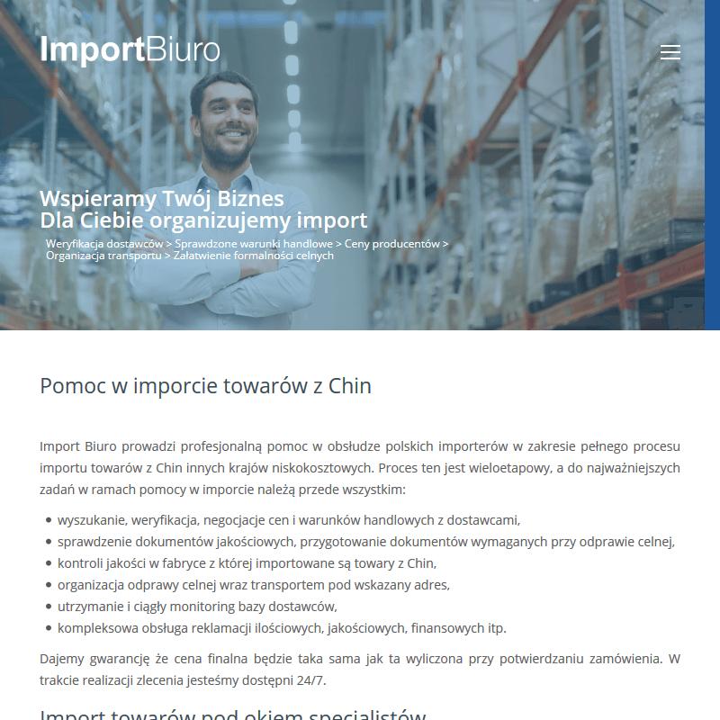 Import maszyn z Chin