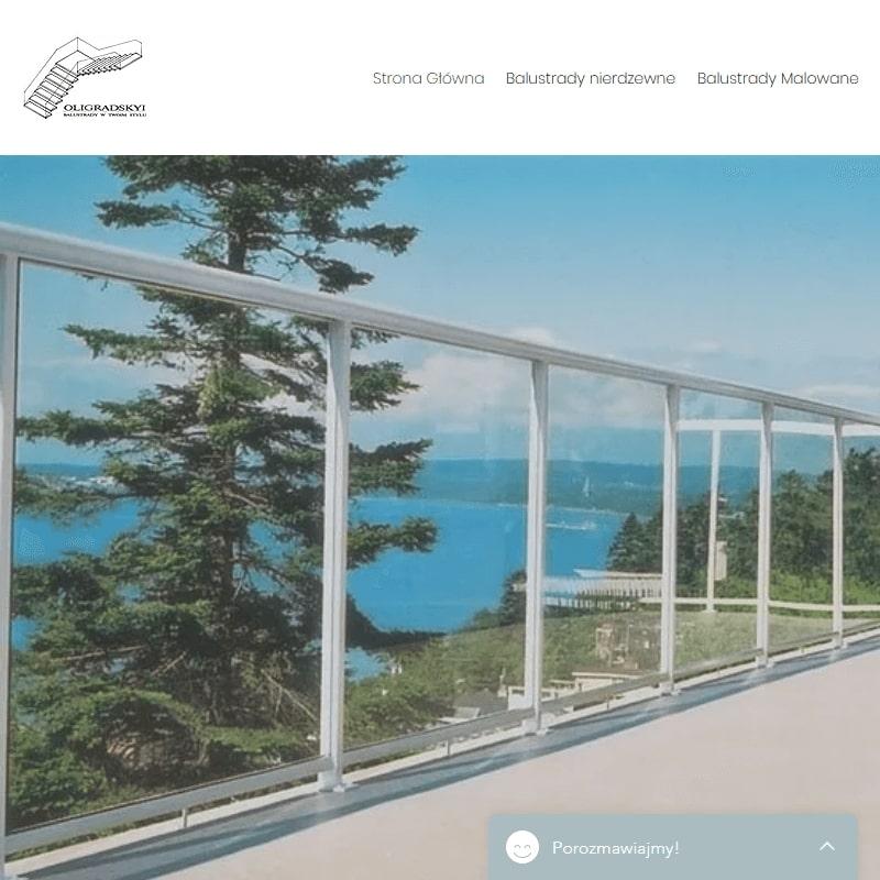 Wewnętrzne balustrady szklane