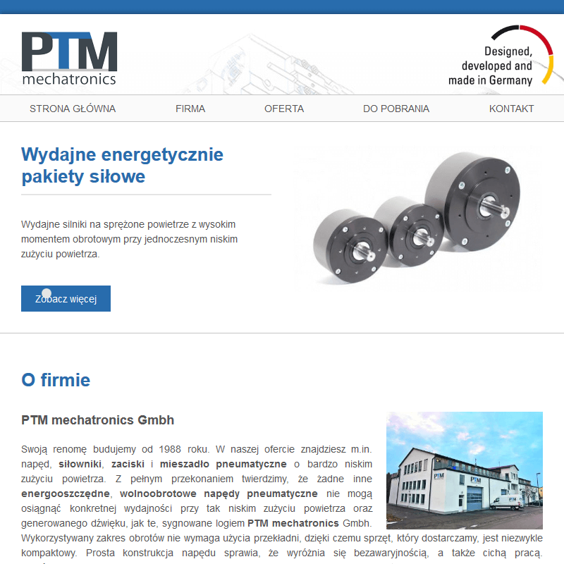 Silniki pneumatyczne - Poznań
