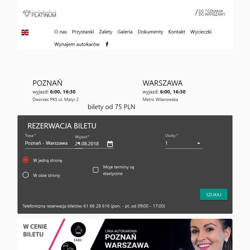 Linia autokarowa Poznań-Warszawa