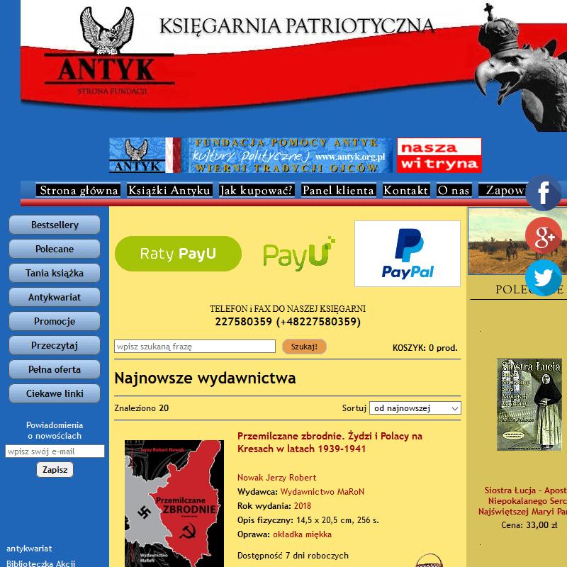 Internetowa księgarnia prawicowa