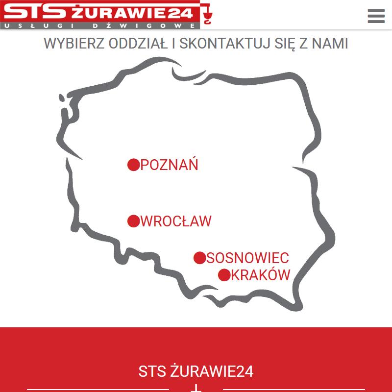 Wynajem żurawi - Kraków