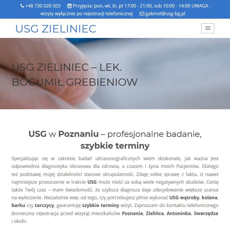 USG wątroby i stawów - Poznań